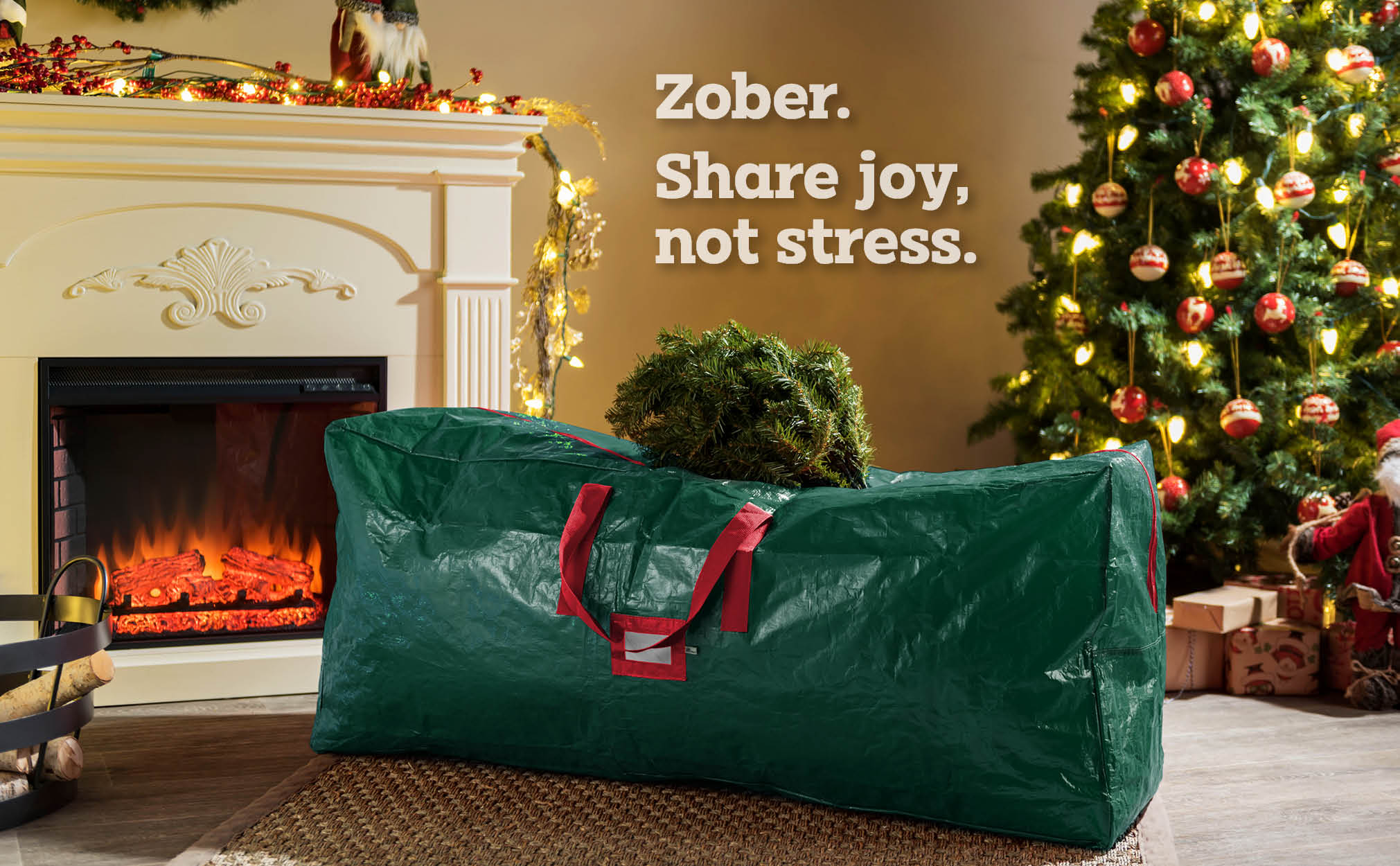 7.5 ft. Premium extra Large Christmas Tree Storage Bag, (Green)