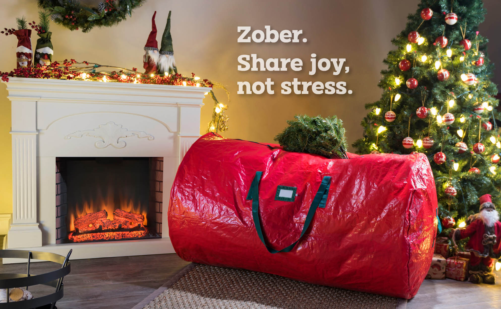 9 Ft Premium extra Large Christmas Tree Storage Bag, (Red)