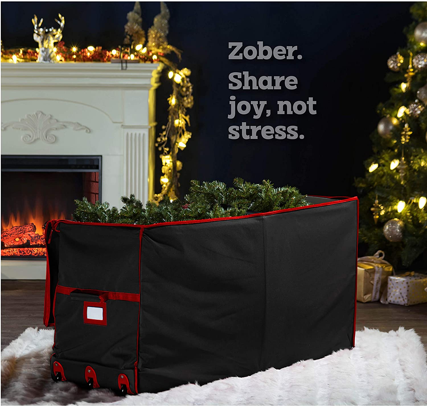 Freestanding Artificial Tree Storage Box for 7.5 ft Tree, 23
