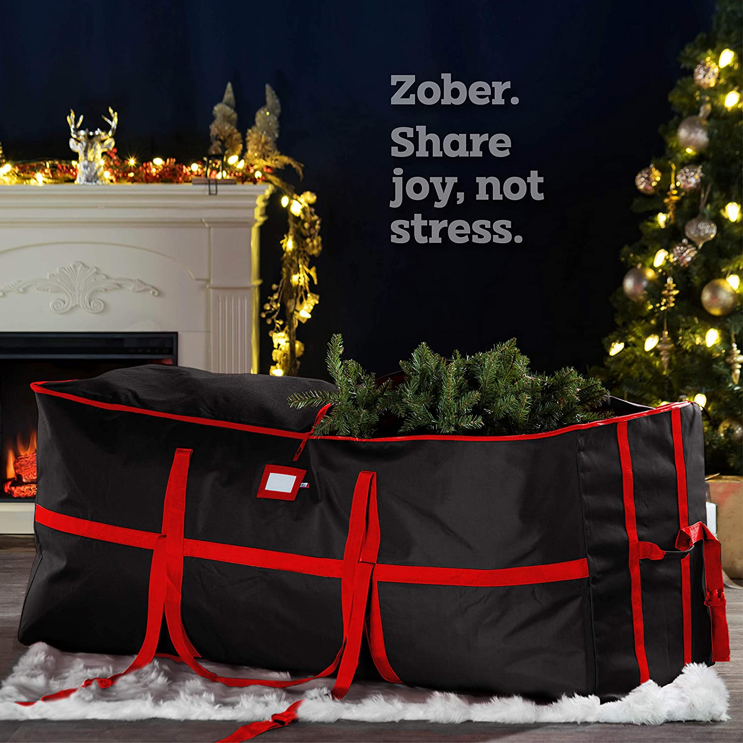 Wide Opening Tree Storage Bag for 9 ft Tree, 24