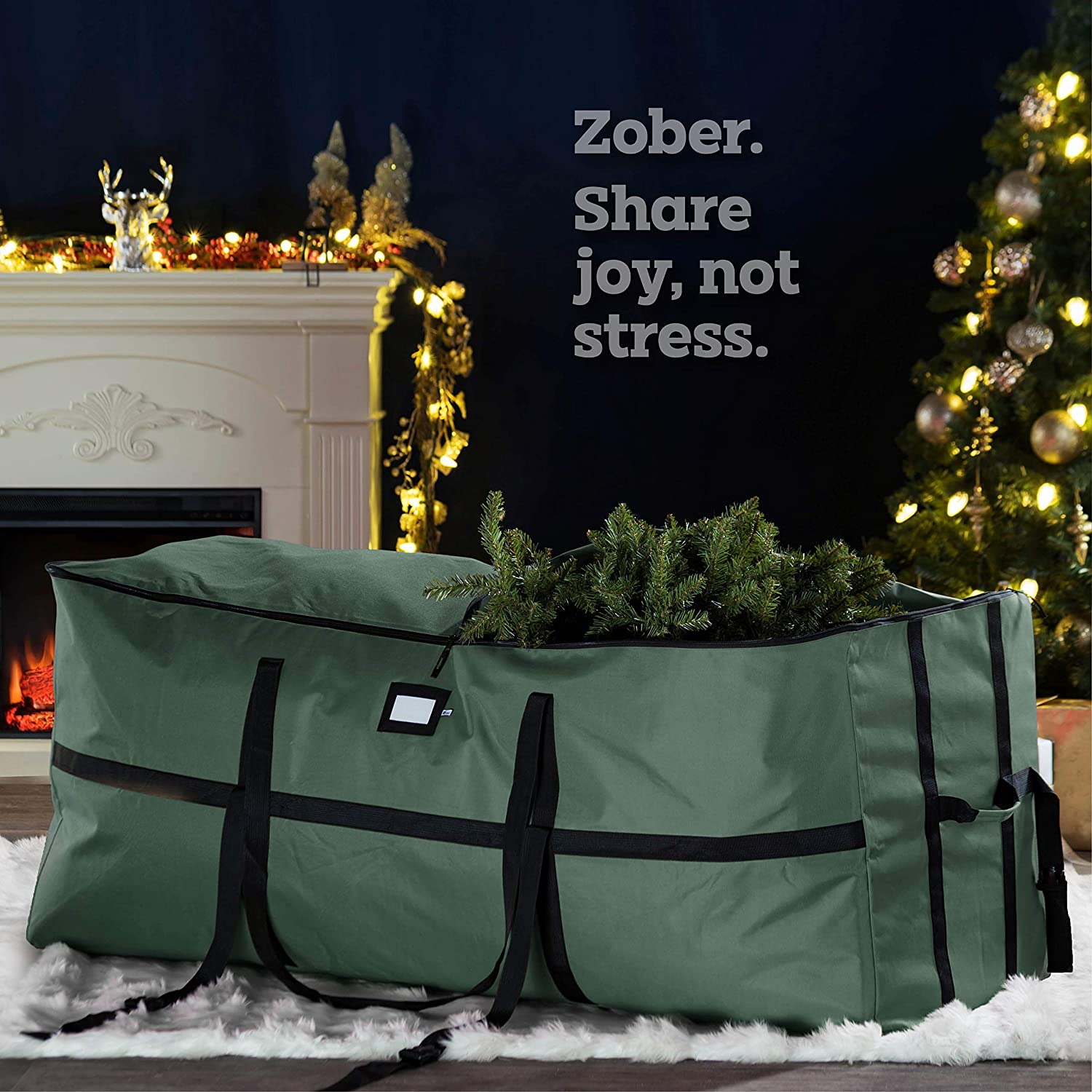 Wide Opening Tree Storage Bag for 7.5 ft Tree, 24