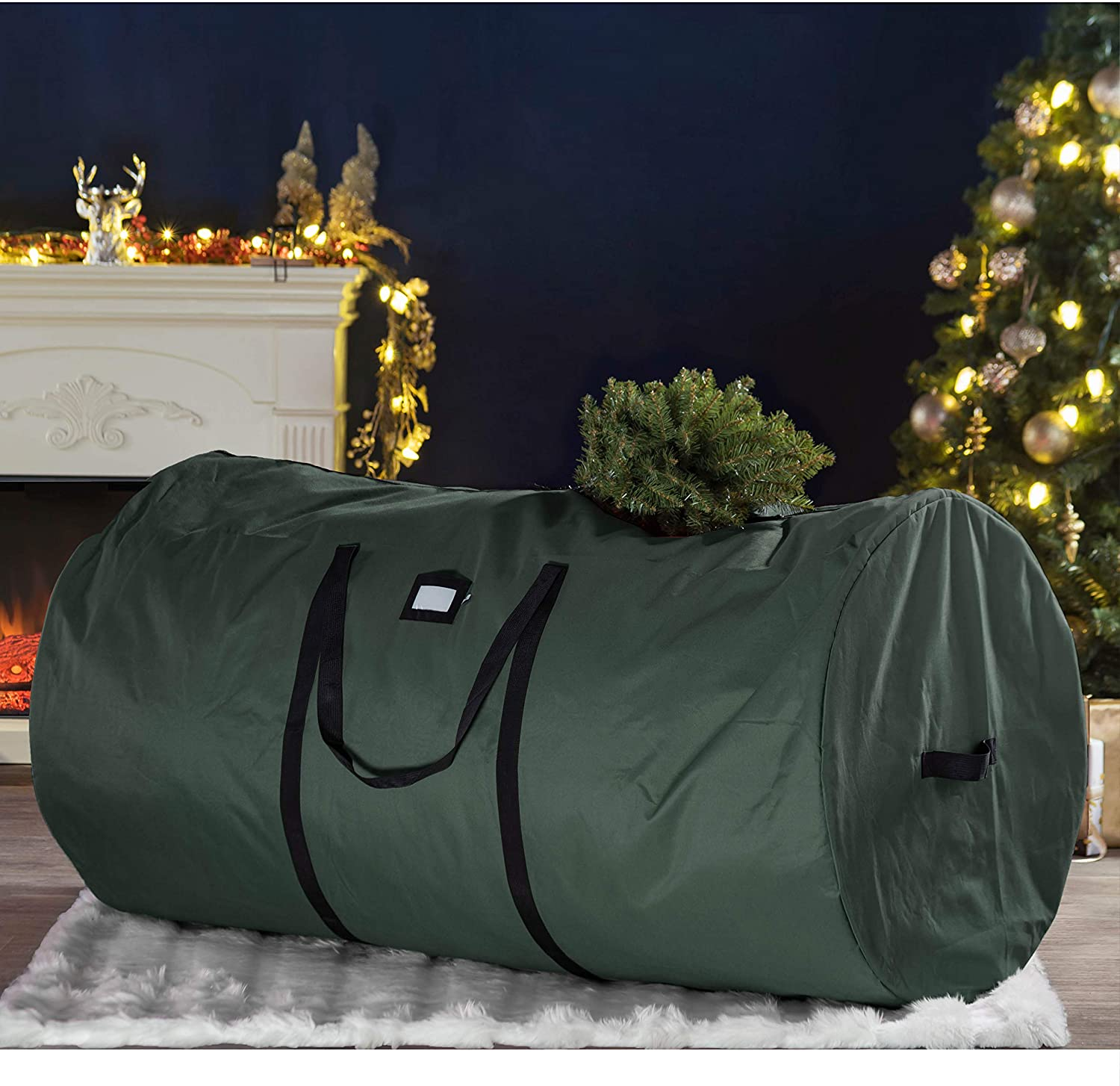 Round Artificial Tree Storage Bag for 7.5 ft Tree, 30