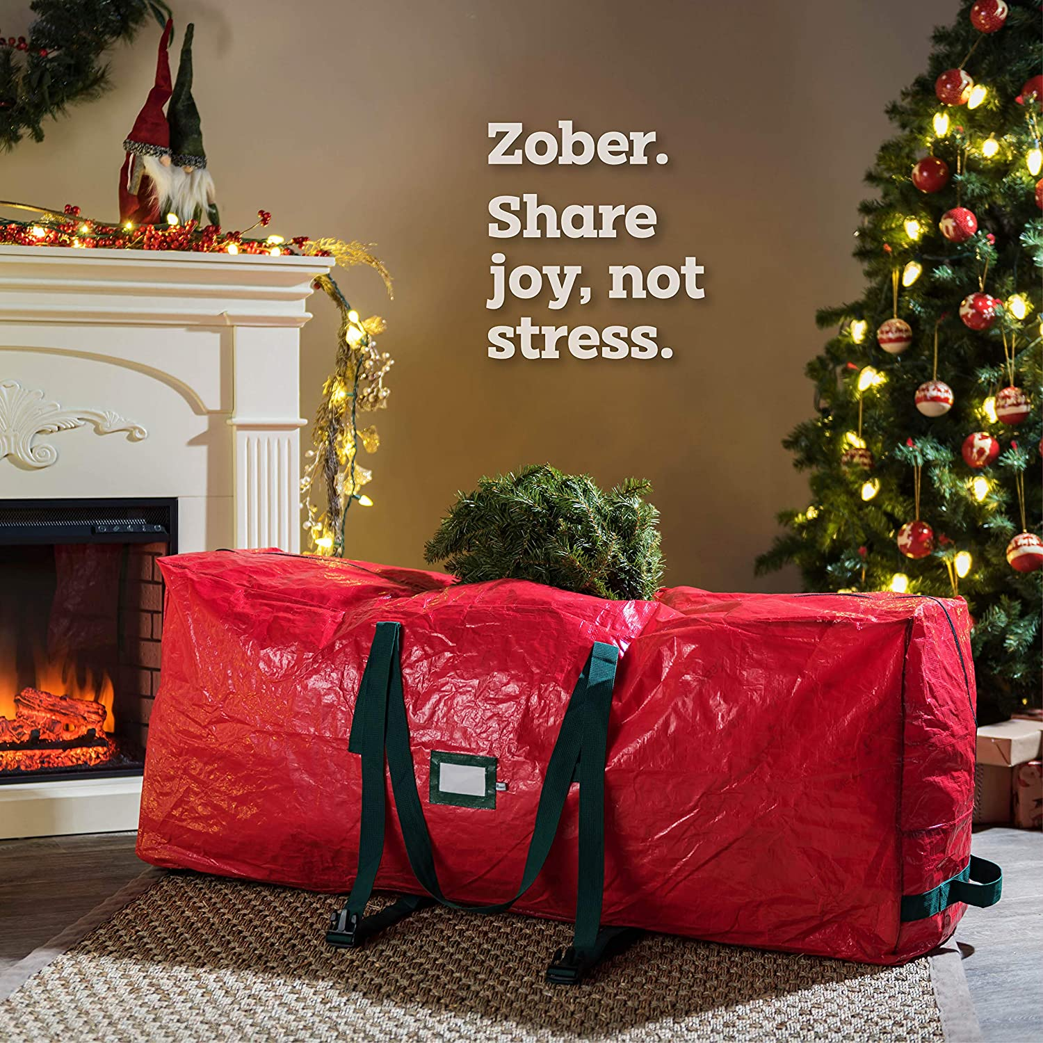 Rolling Artificial Tree Storage Bag for 9 ft Tree, 30