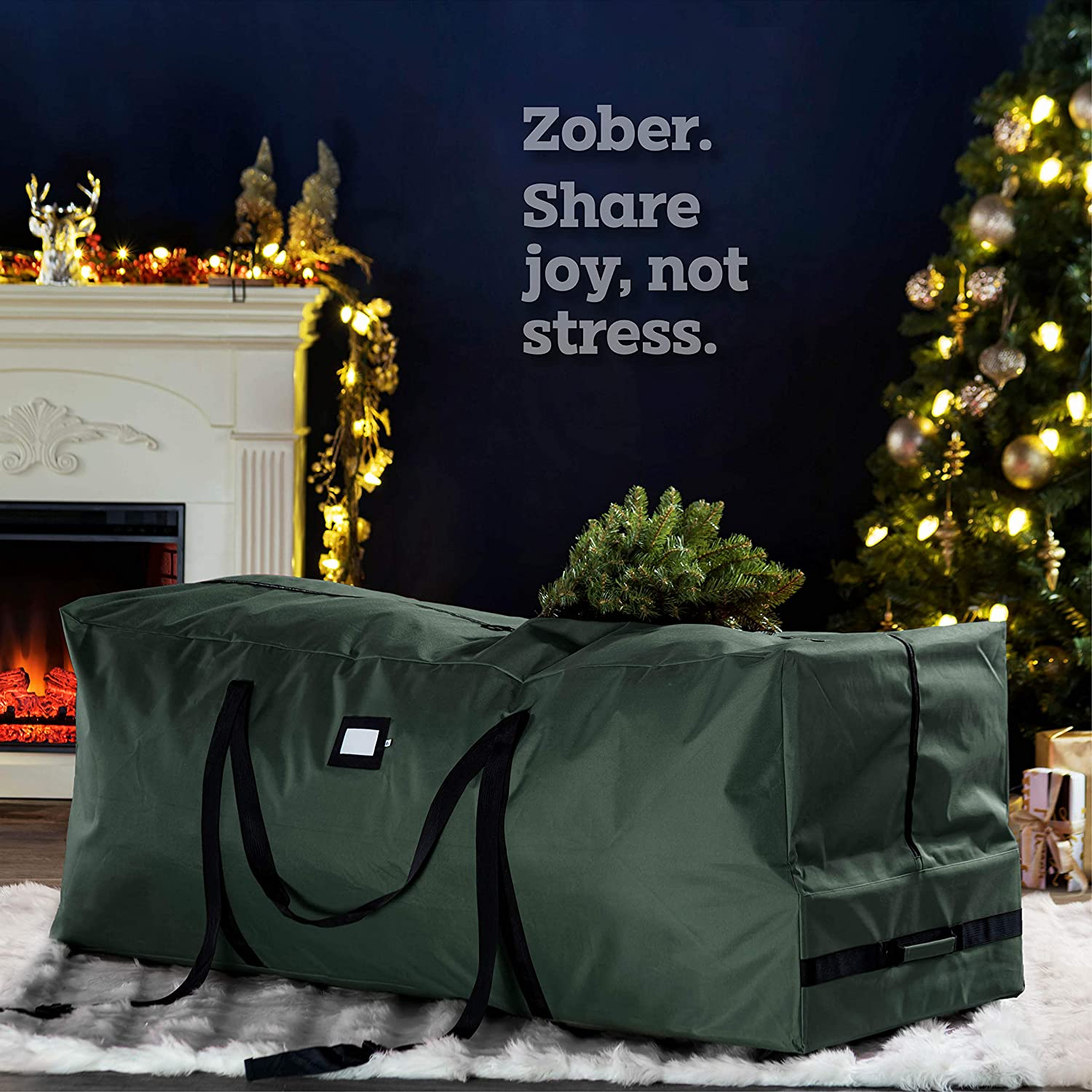 Rolling Artificial Tree Storage Bag for 9 ft Tree, 22