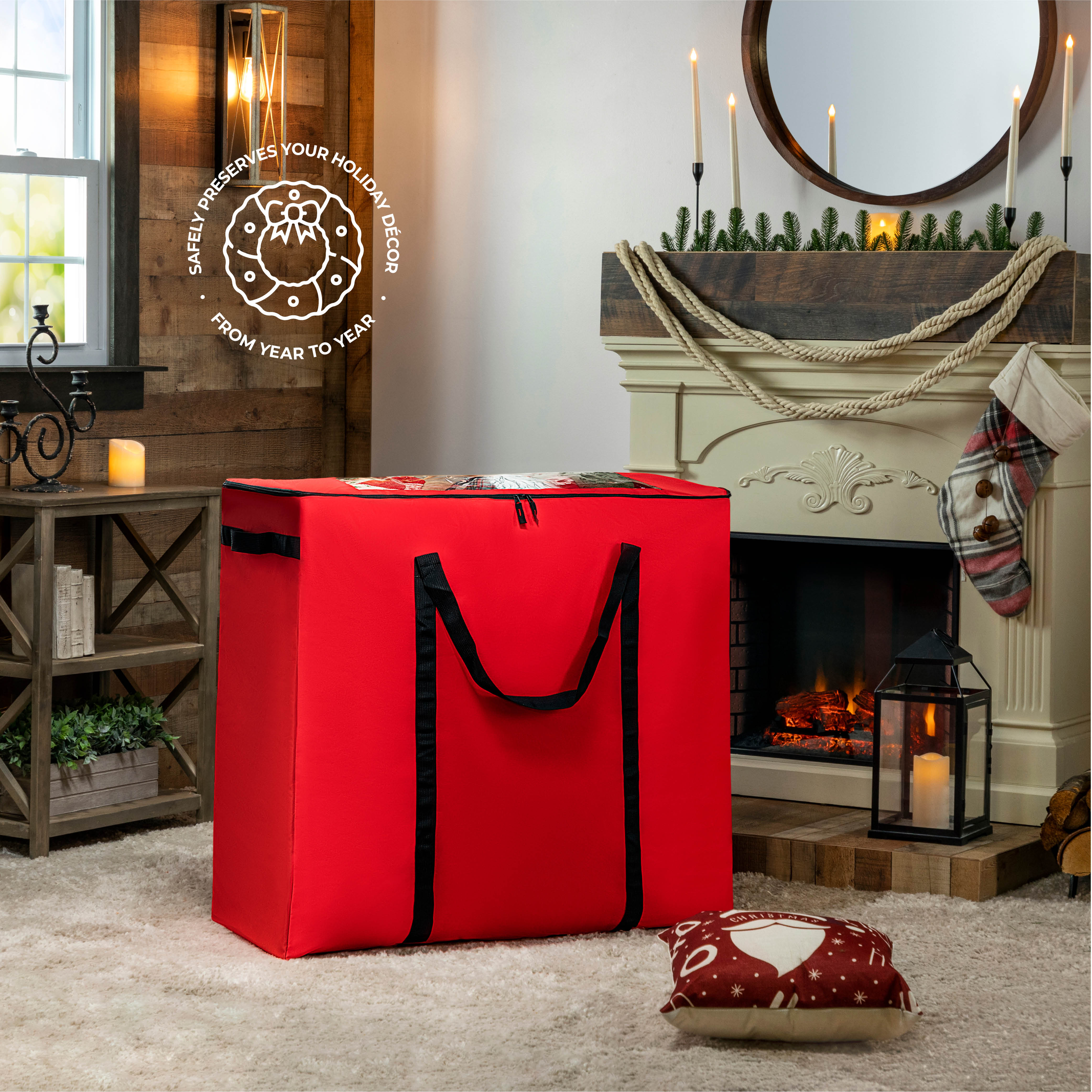 Rolling Christmas Accessory Bag 600D Polyester 36
