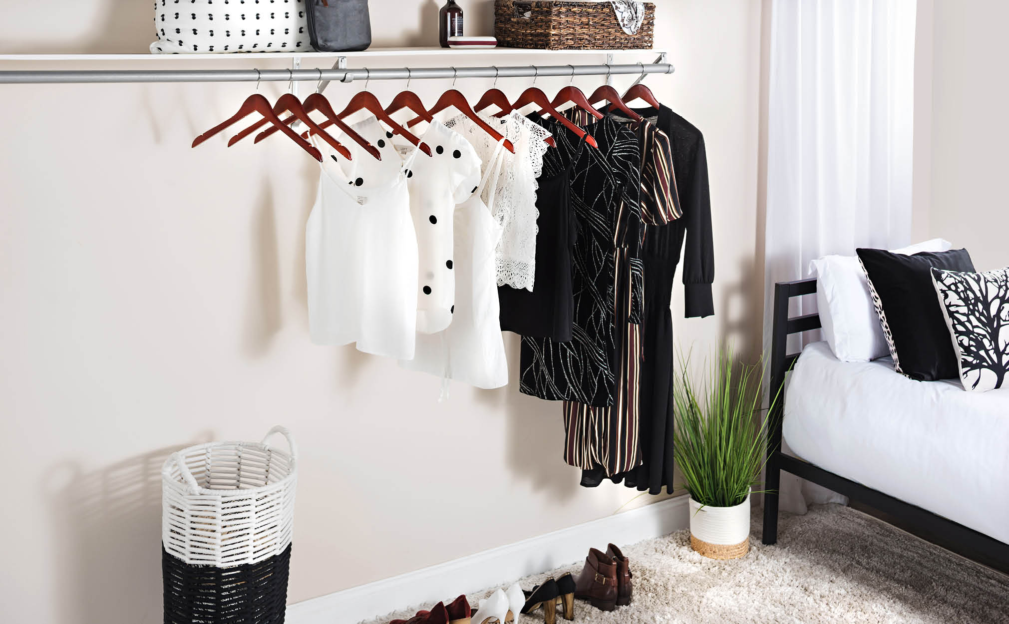10-Pack Cherry Wooden Suit Hanger with Anti-Slip Feature